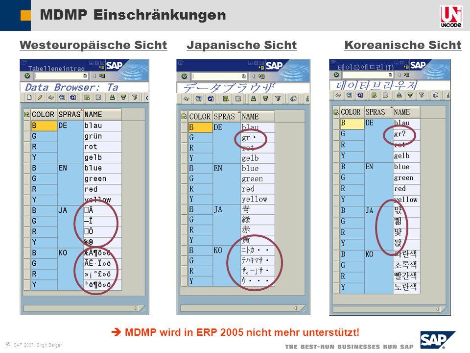  MDMP wird in ERP 2005 nicht mehr unterstützt!