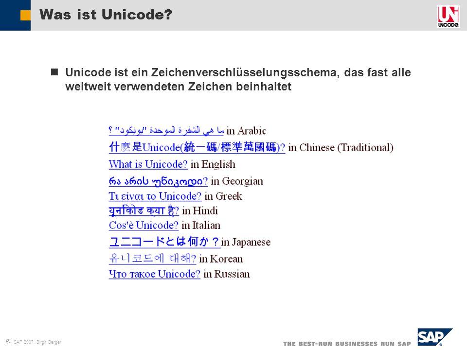 Was ist Unicode Unicode ist ein Zeichenverschlüsselungsschema, das fast alle weltweit verwendeten Zeichen beinhaltet.