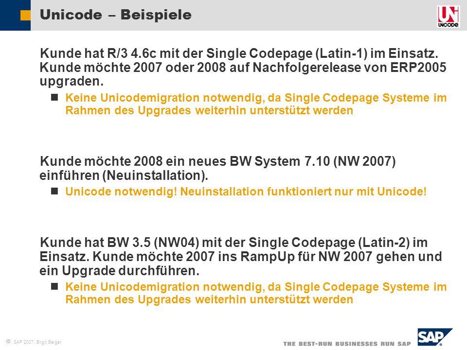 Unicode – Beispiele