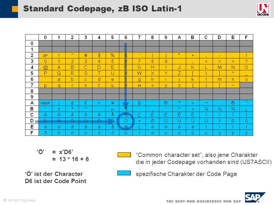 Standard Codepage, zB ISO Latin-1
