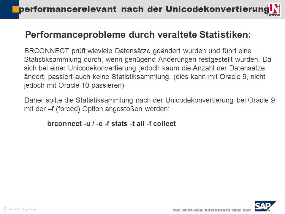 performancerelevant nach der Unicodekonvertierung