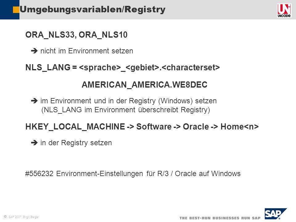Umgebungsvariablen/Registry