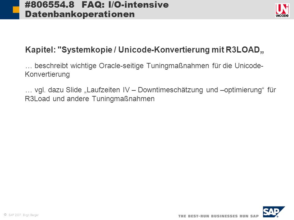 #806554.8 FAQ: I/O-intensive Datenbankoperationen