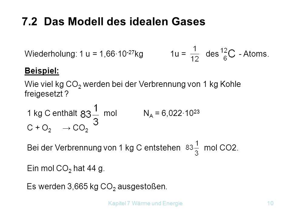 7.2 Das Modell des idealen Gases