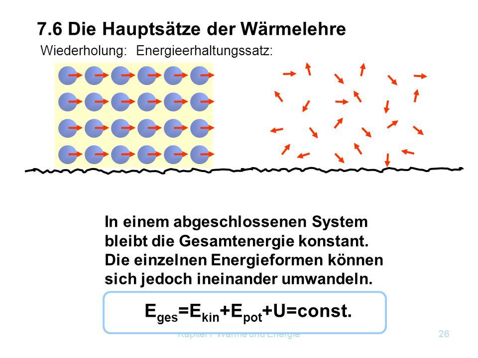 Eges=Ekin+Epot+U=const.