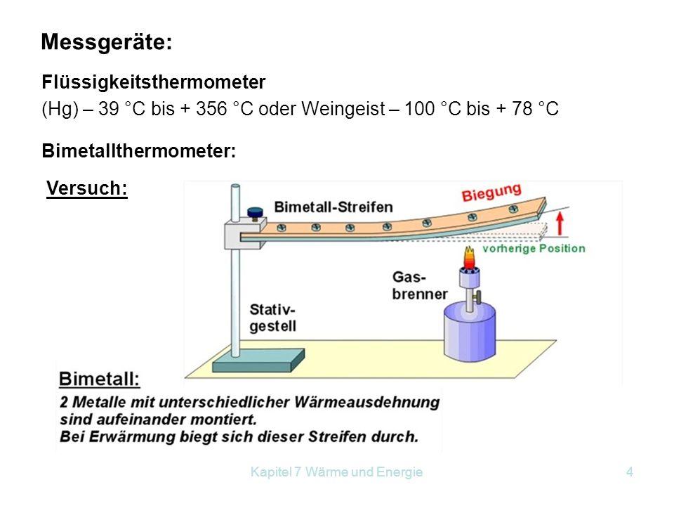 Kapitel 7 Wärme und Energie