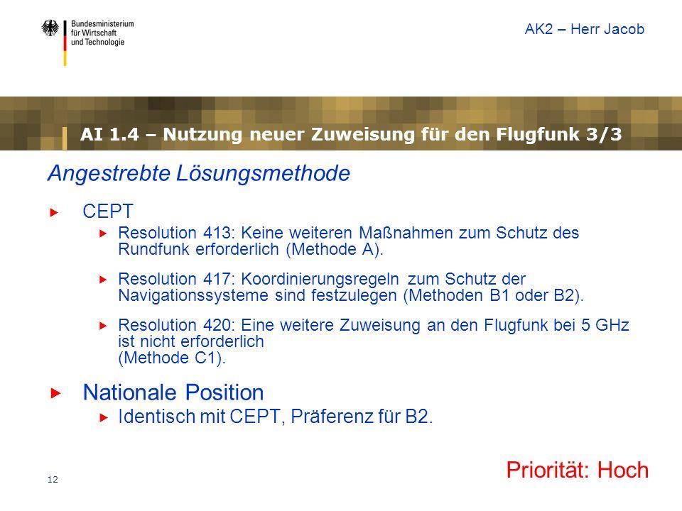 AI 1.4 – Nutzung neuer Zuweisung für den Flugfunk 3/3