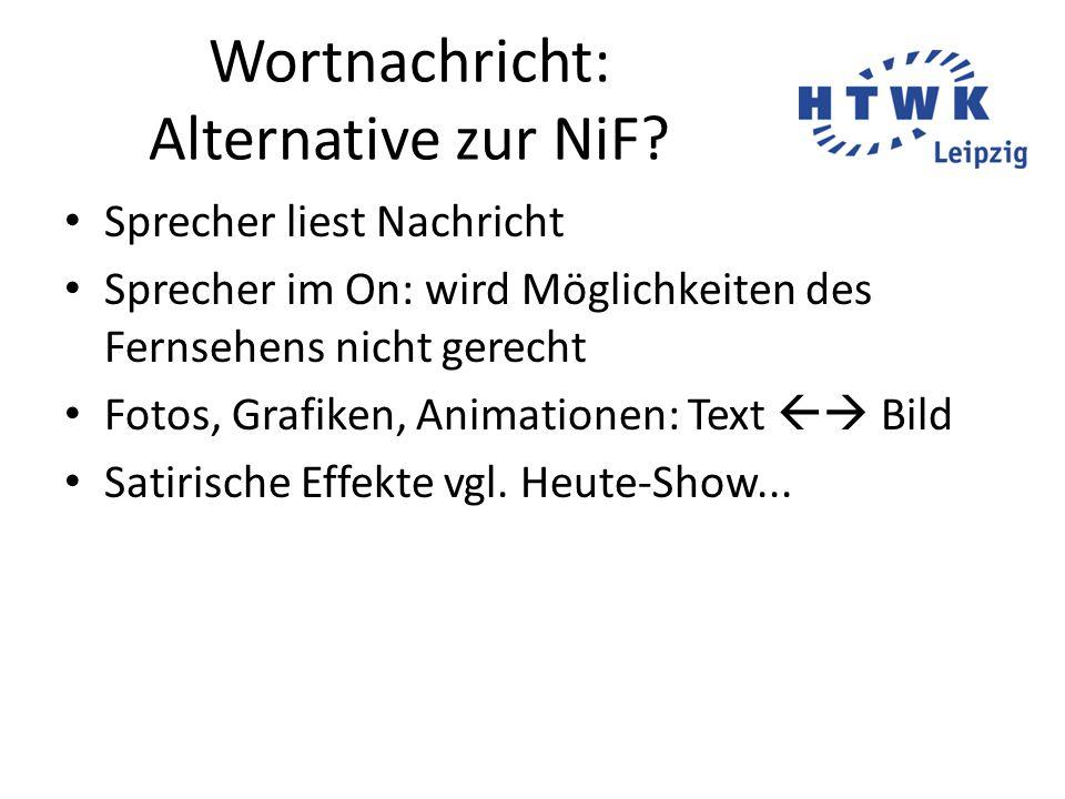 Wortnachricht: Alternative zur NiF