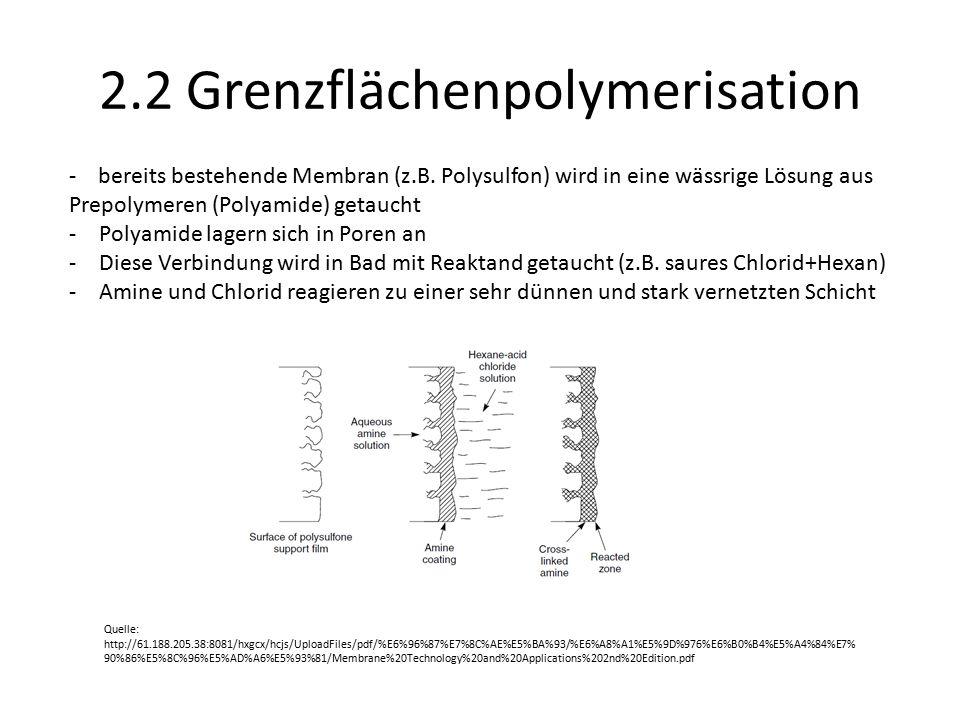 2.2 Grenzflächenpolymerisation