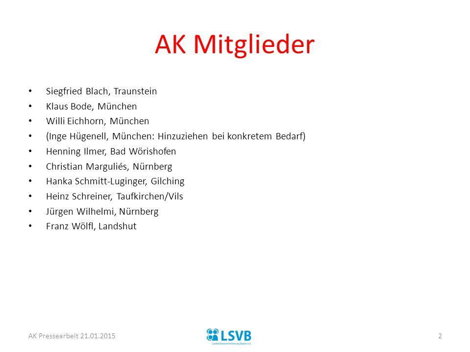 AK Mitglieder Siegfried Blach, Traunstein Klaus Bode, München
