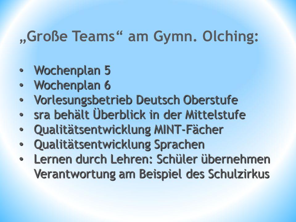 """Große Teams am Gymn. Olching:"