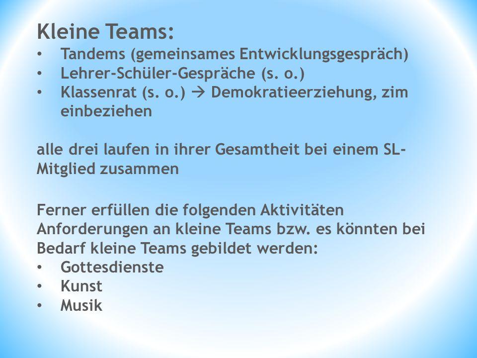 Kleine Teams: Tandems (gemeinsames Entwicklungsgespräch)