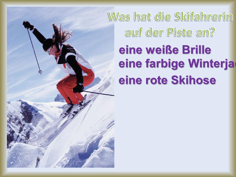 Was hat die Skifahrerin