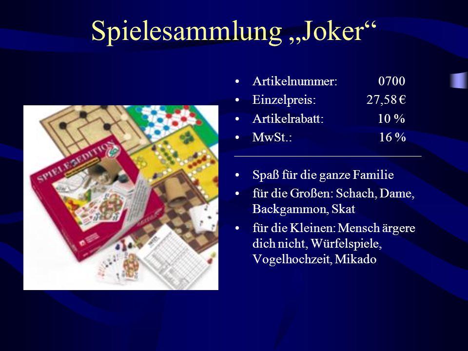 "Spielesammlung ""Joker"