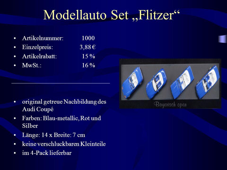 """Modellauto Set """"Flitzer"""