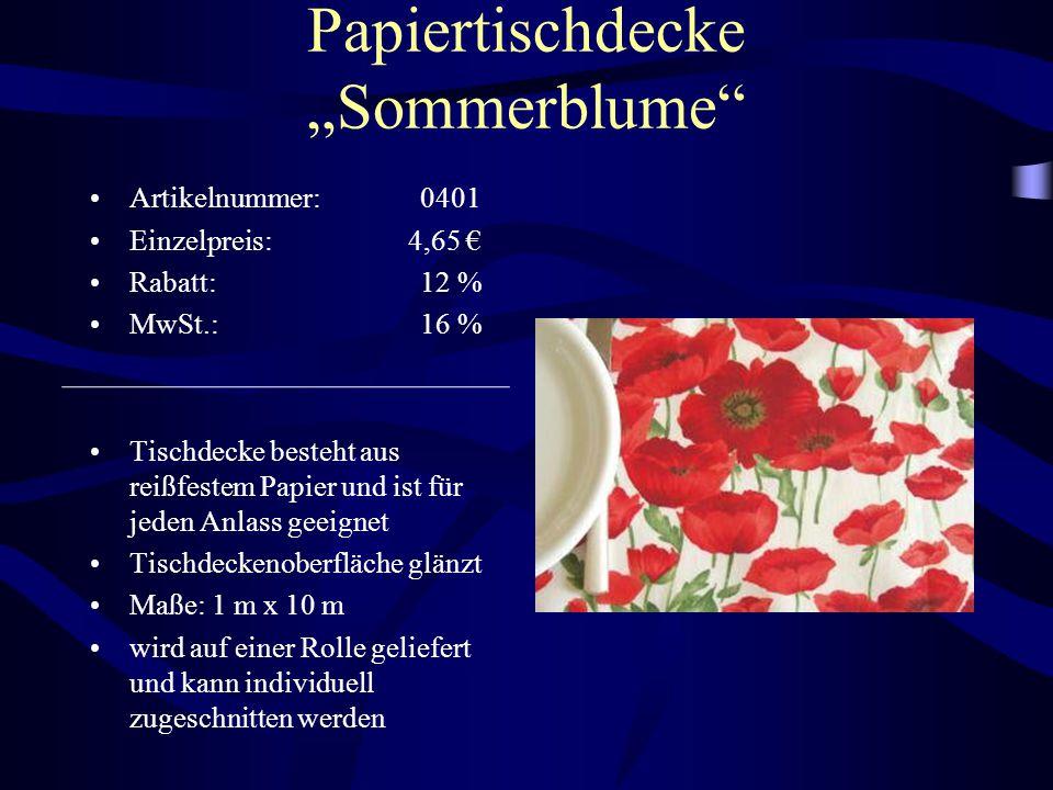 """Papiertischdecke """"Sommerblume"""