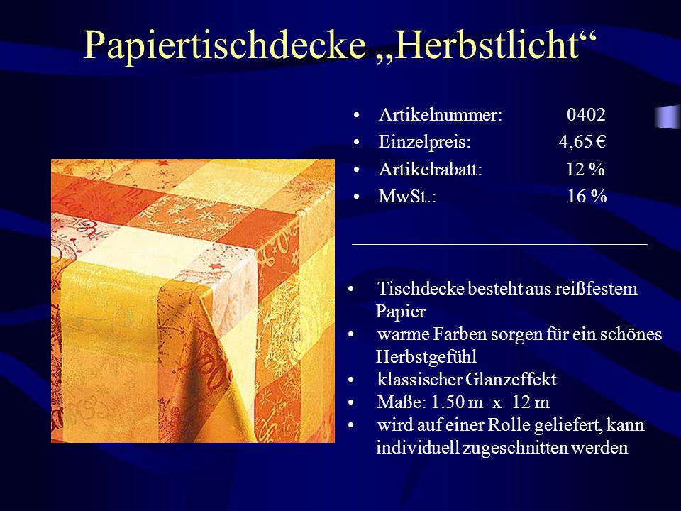 """Papiertischdecke """"Herbstlicht"""