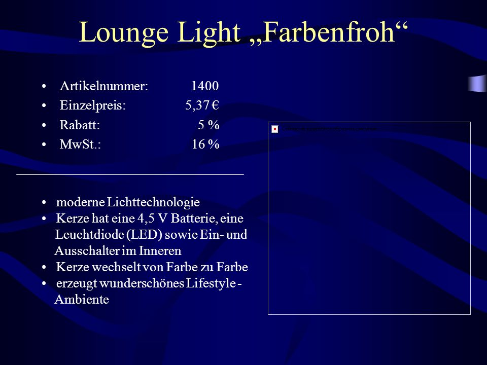 "Lounge Light ""Farbenfroh"