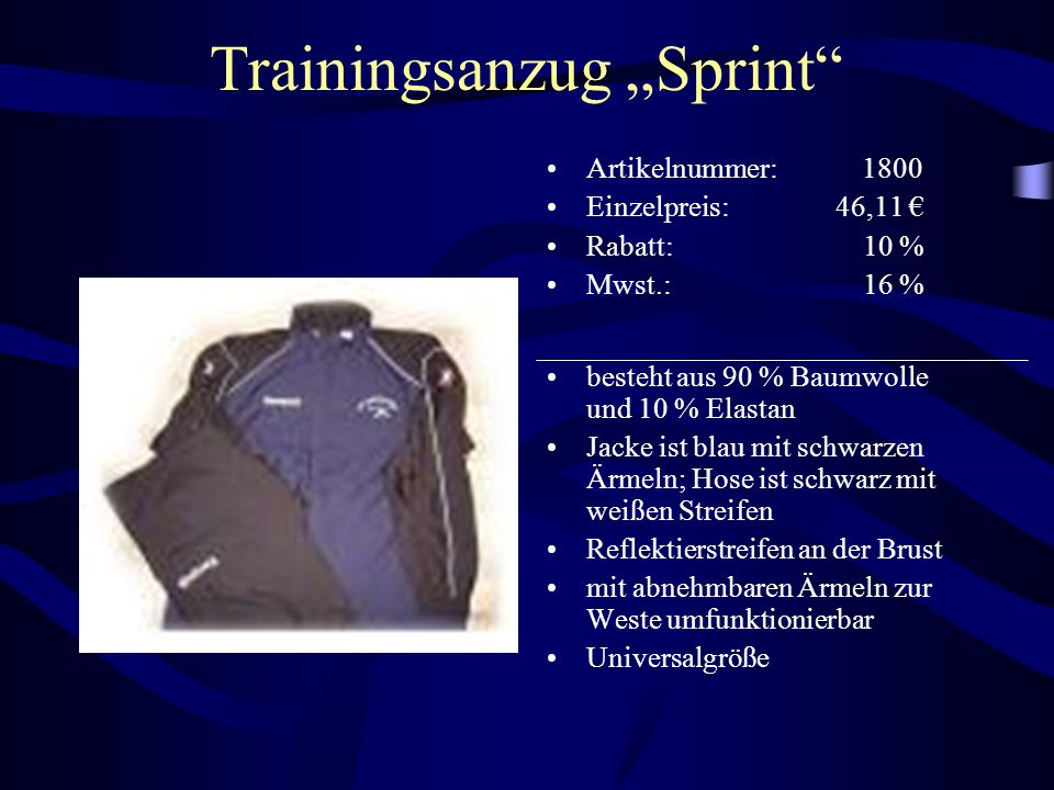 "Trainingsanzug ""Sprint"