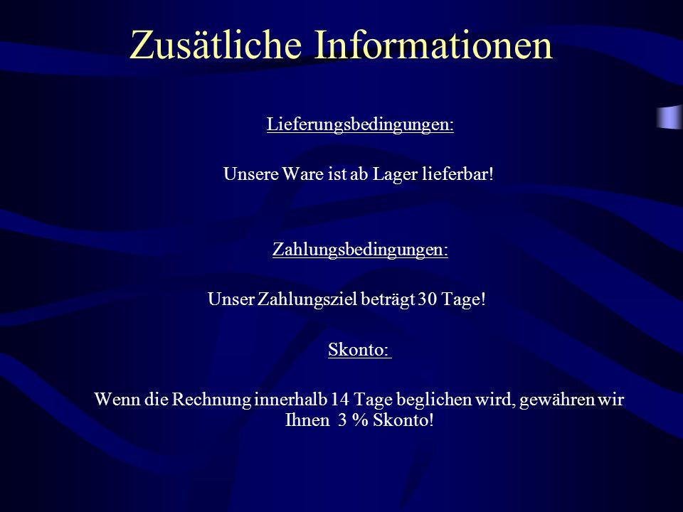 Zusätliche Informationen
