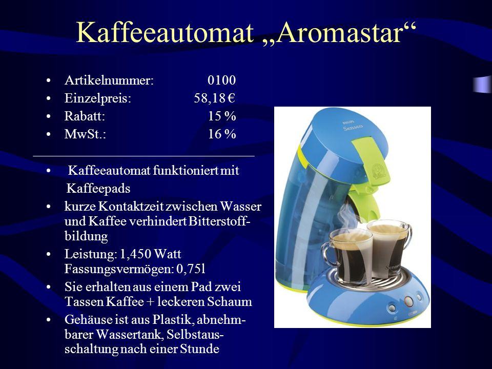 """Kaffeeautomat """"Aromastar"""