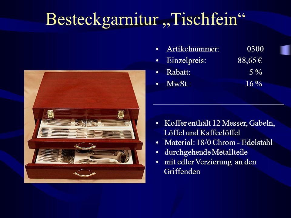 """Besteckgarnitur """"Tischfein"""