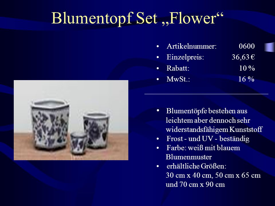 "Blumentopf Set ""Flower"