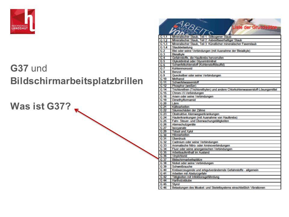 G37 Vorsorgeuntersuchung Spezielle Untersuchung