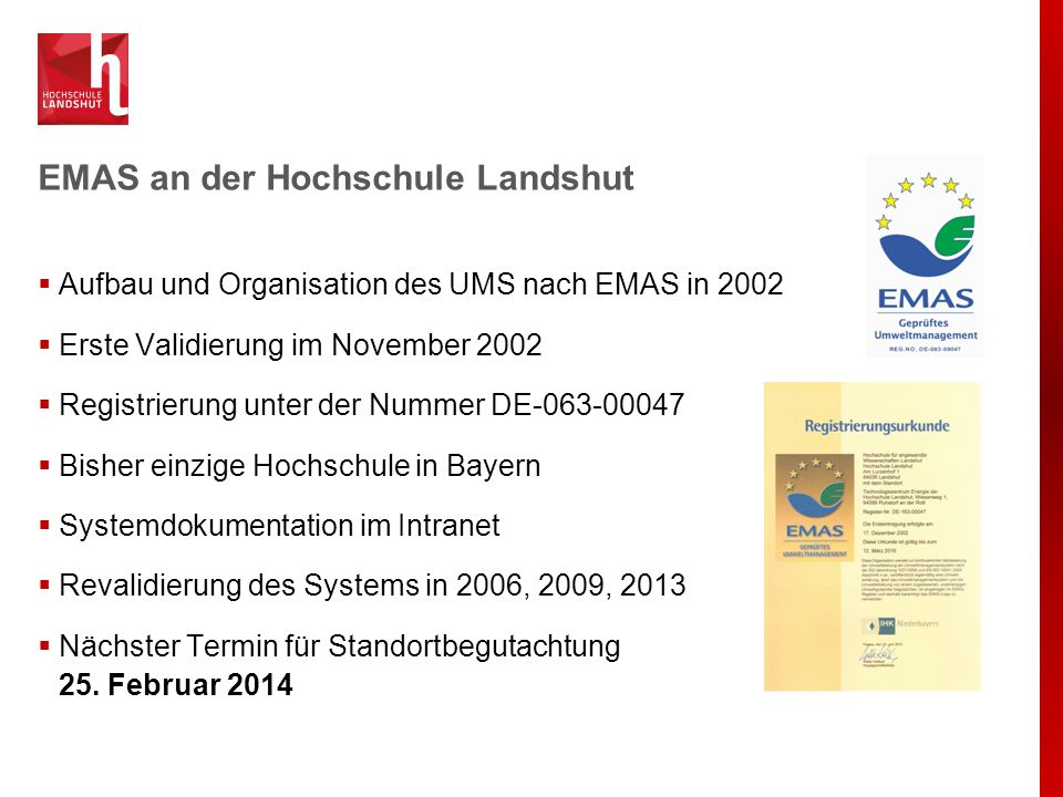Umweltprogramm Organisation Verbesserung des Umweltgedankens