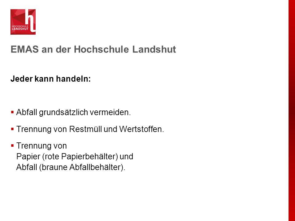 EMAS an der Hochschule Landshut