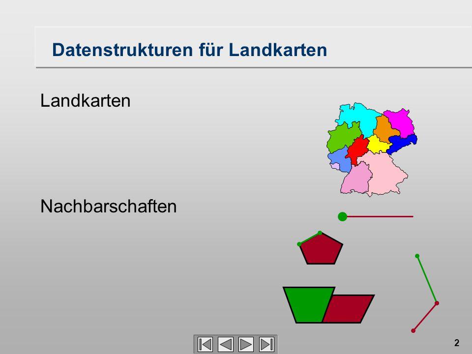 Datenstrukturen für Landkarten