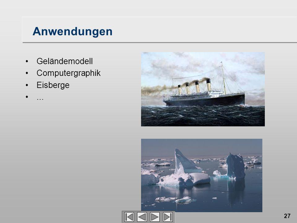 Anwendungen Geländemodell Computergraphik Eisberge ...
