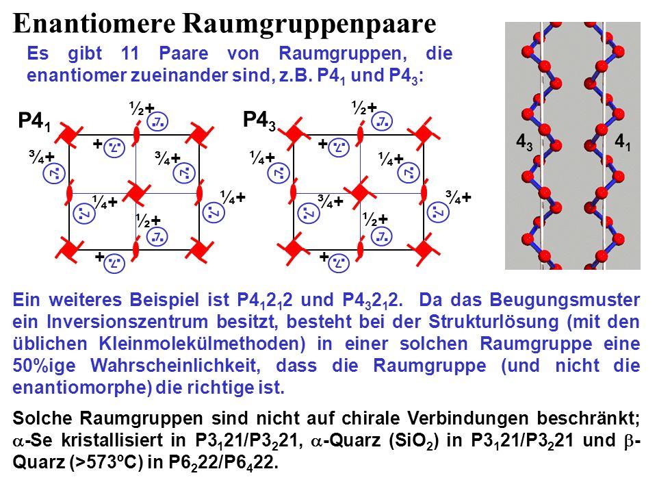 Enantiomere Raumgruppenpaare