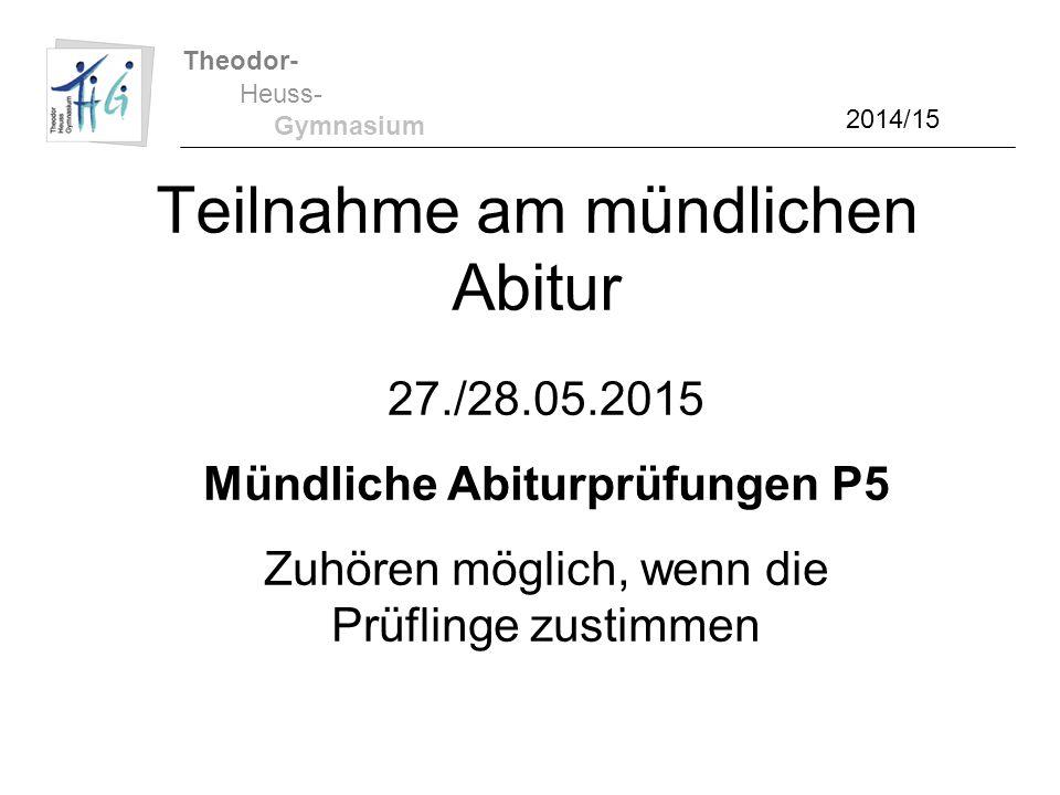 Teilnahme am mündlichen Abitur