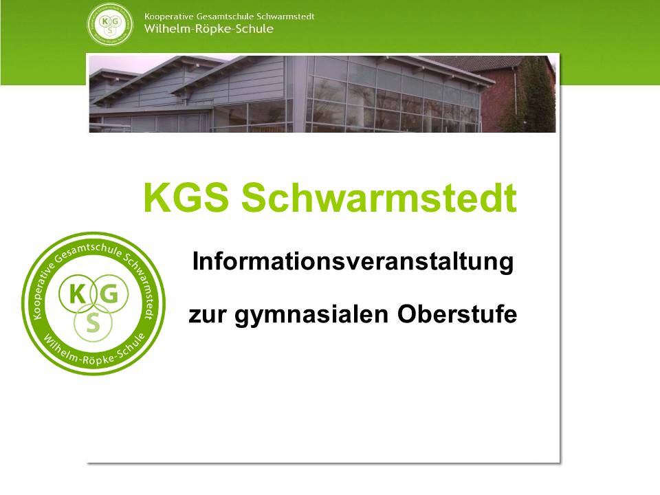 Informationsveranstaltung zur gymnasialen Oberstufe