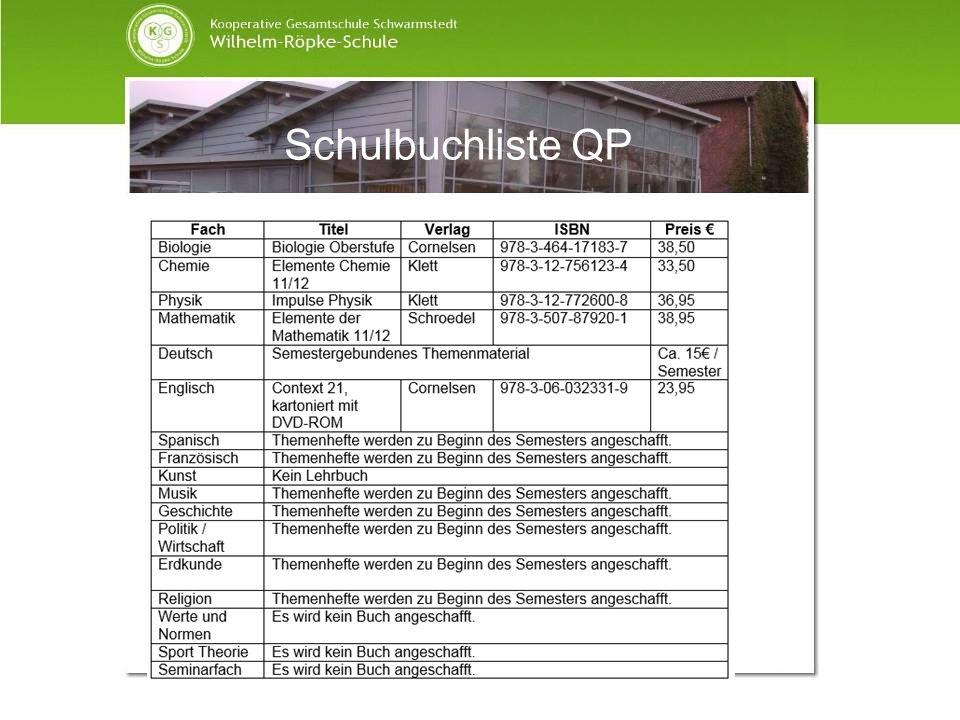 Schulbuchliste QP