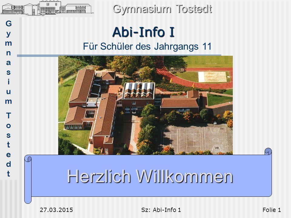 Herzlich Willkommen Abi-Info I Gymnasium Tostedt