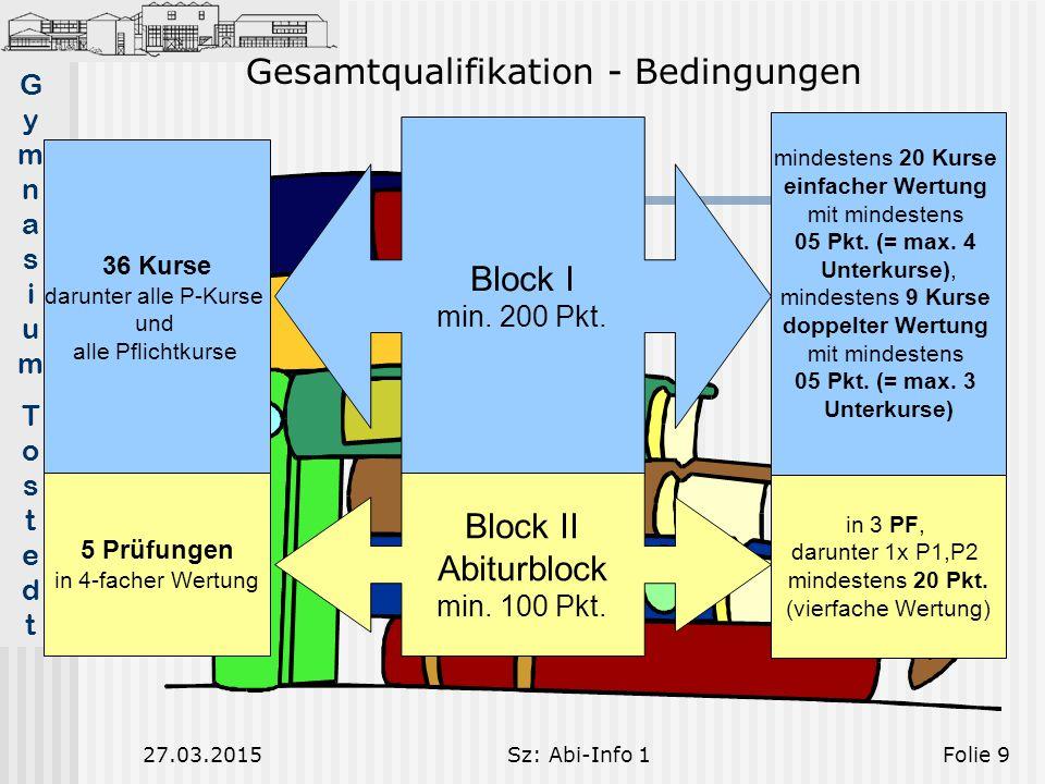 Gesamtqualifikation - Bedingungen