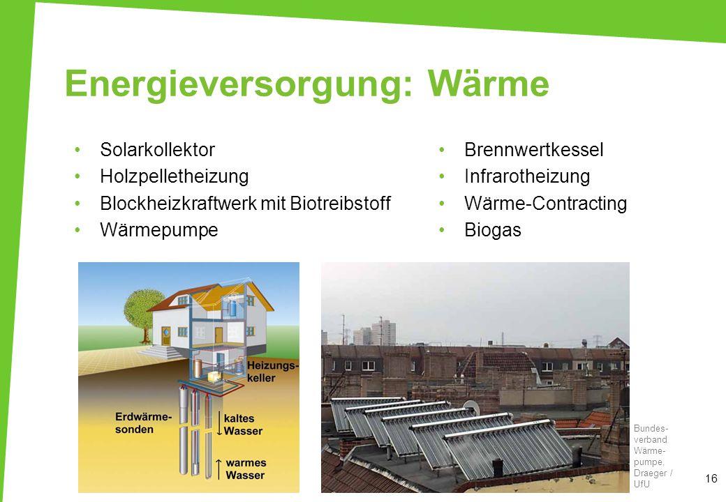 Energieversorgung: Wärme