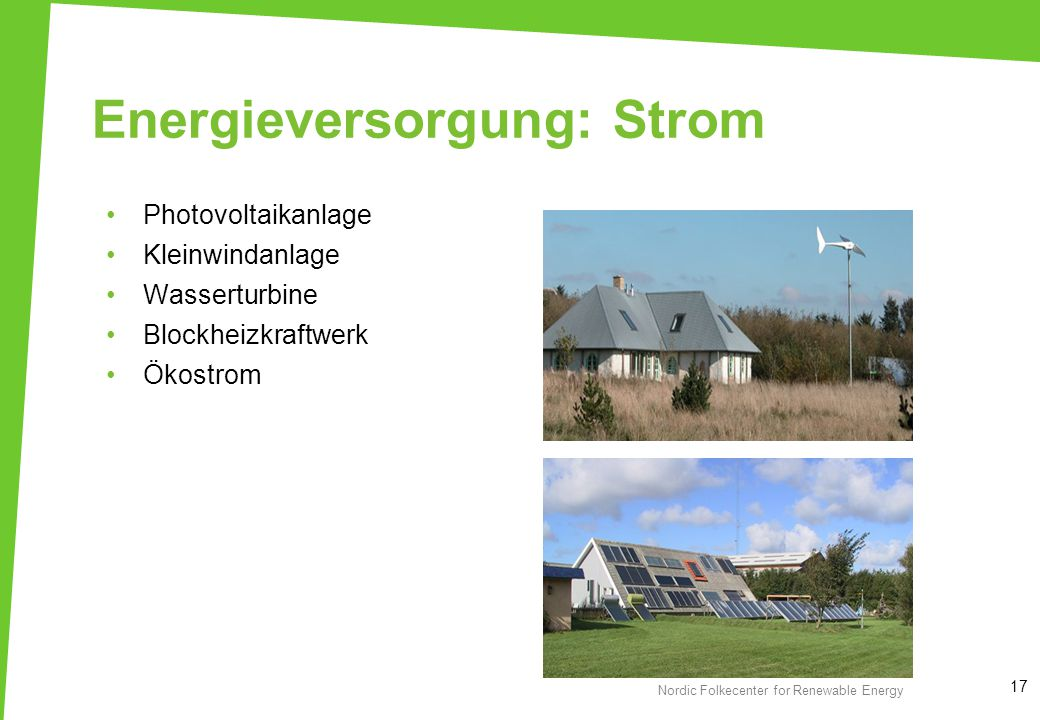 Energieversorgung: Strom