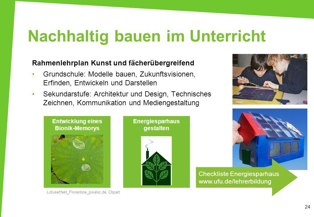 Nachhaltig bauen im Unterricht