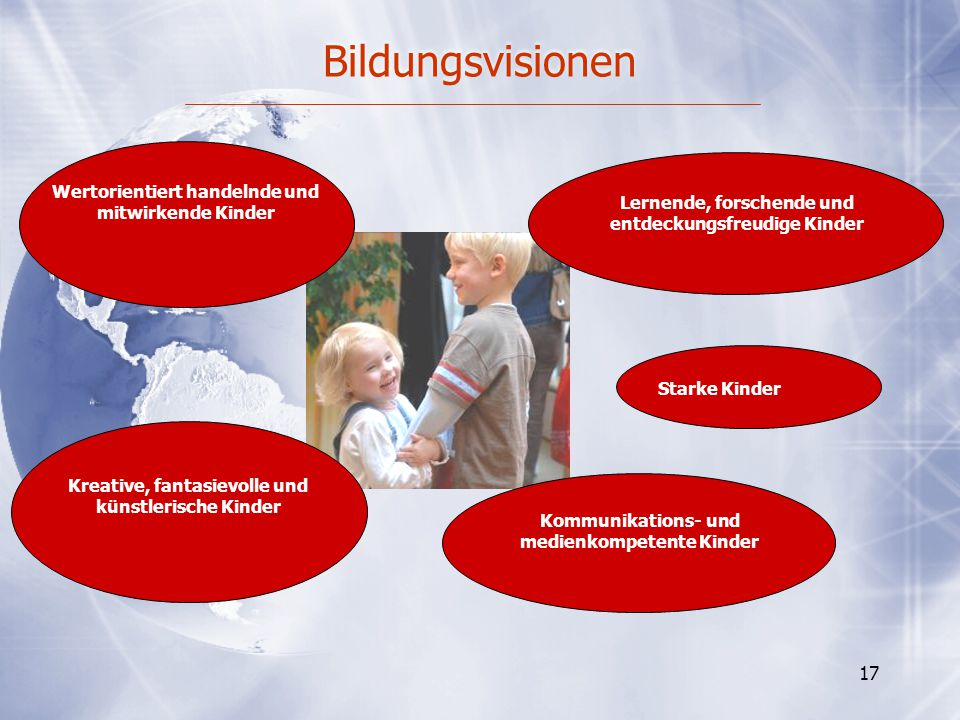Bildungsvisionen Wertorientiert handelnde und mitwirkende Kinder