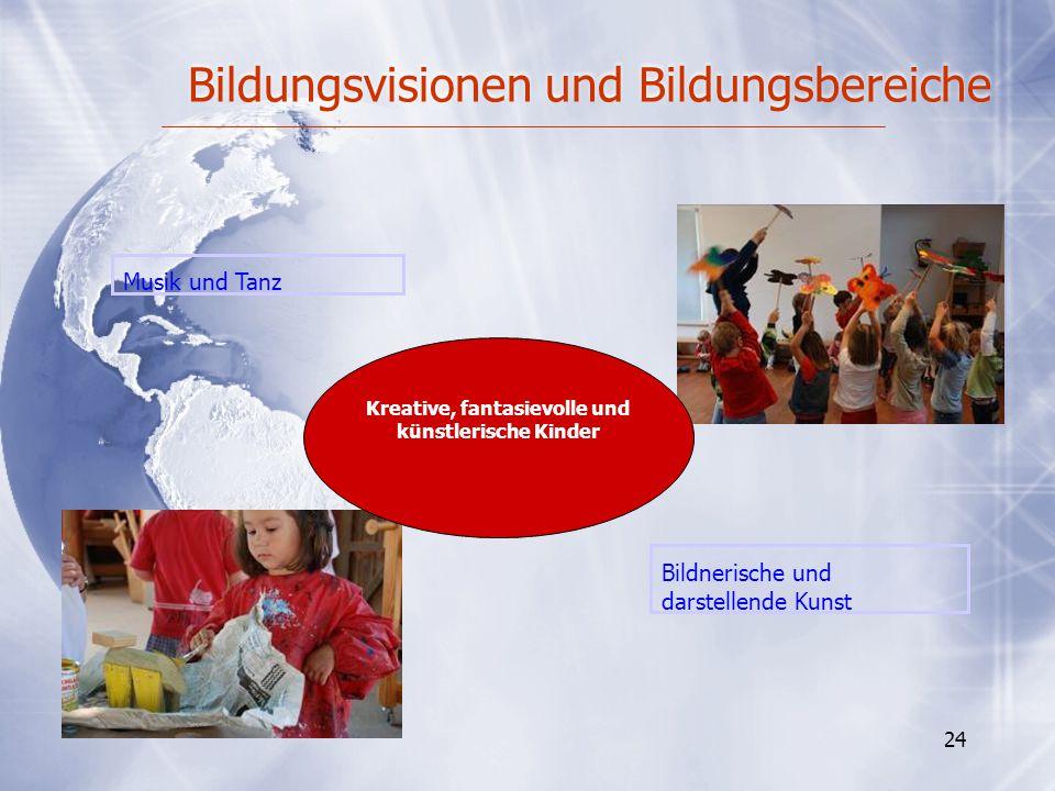Bildungsvisionen und Bildungsbereiche