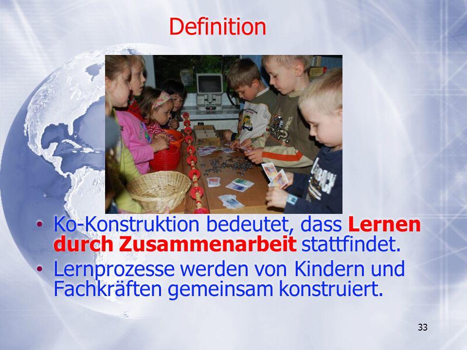 Definition Ko-Konstruktion bedeutet, dass Lernen durch Zusammenarbeit stattfindet.