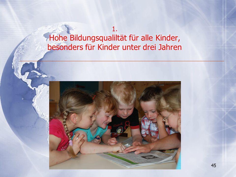Hohe Bildungsqualiltät für alle Kinder,