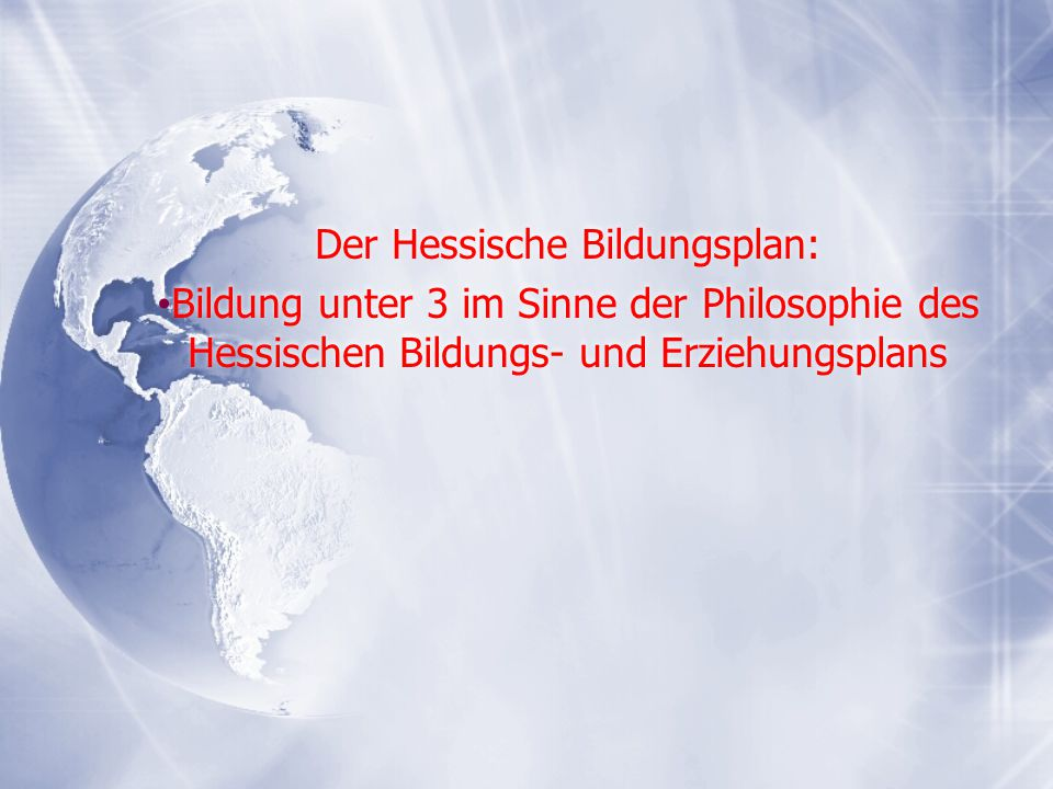 Der Hessische Bildungsplan: