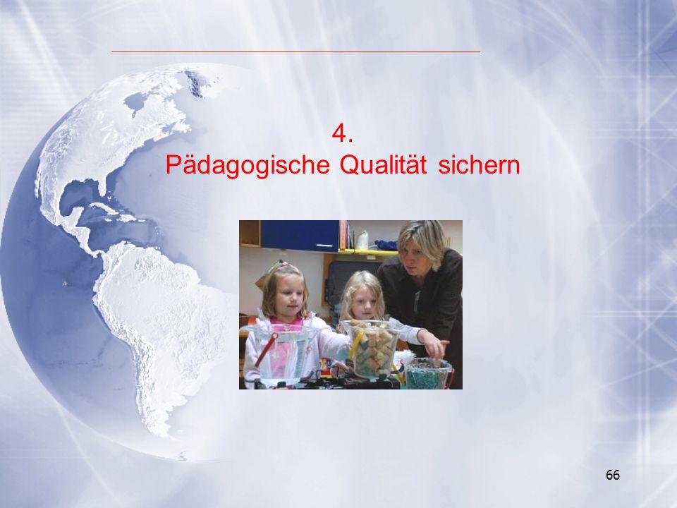 Pädagogische Qualität sichern