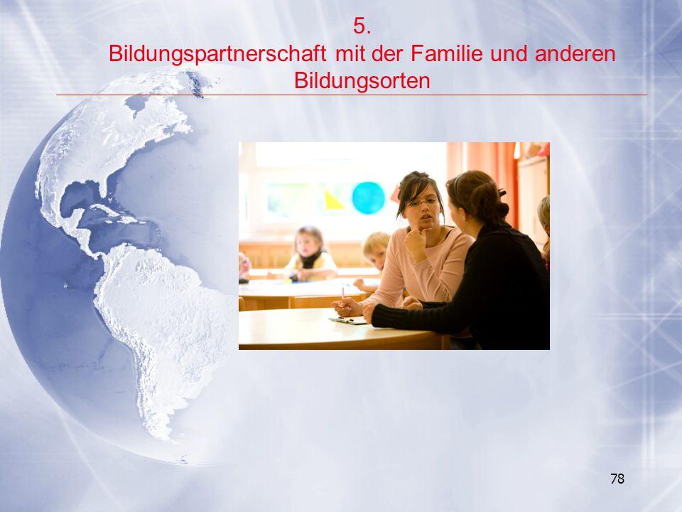 Bildungspartnerschaft mit der Familie und anderen Bildungsorten