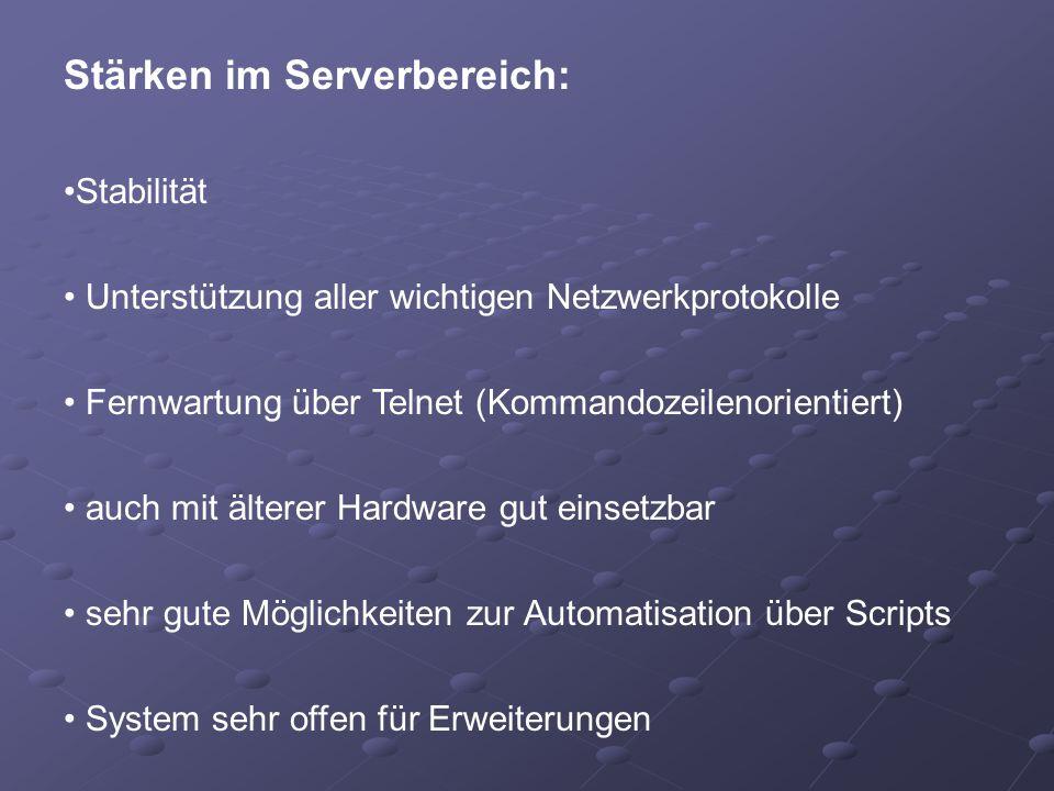 Stärken im Serverbereich: