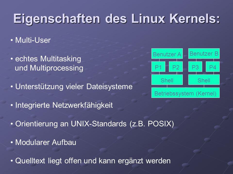 Eigenschaften des Linux Kernels: